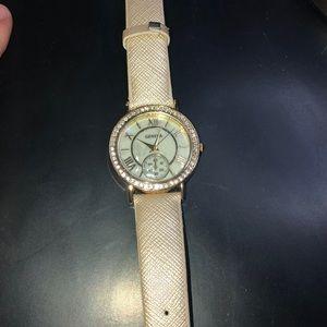 GENEVA gold and white watch